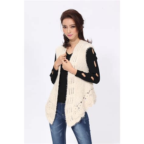 sleeveless jacket knitting pattern knitted vest s sleeveless vests casual style open