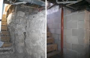repair basement wall how to repair crumbling basement walls home design