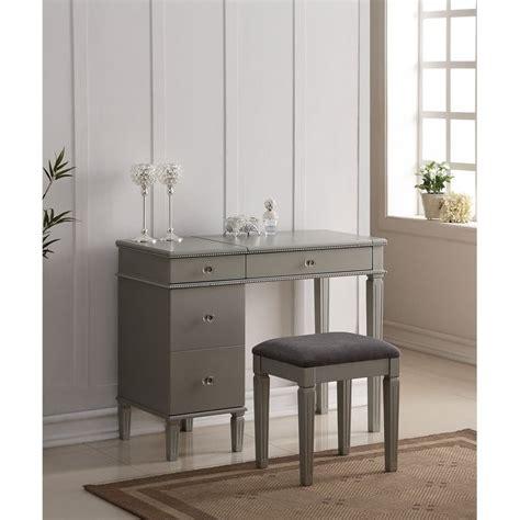 vanity sets for bedroom bedroom vanity set in silver 580435sil01u