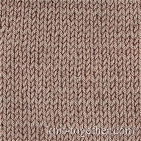 Knit Together Stockinette Stitch Plain Knit Jersey