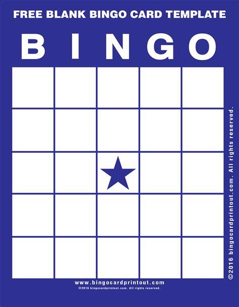 make bingo cards free blank bingo card template bingocardprintout