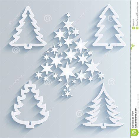 tree paper decorations trees paper decorations stock photo