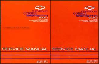 service manual vehicle repair manual 1992 chevrolet beretta lane departure warning service 1993 chevy corsica beretta repair shop manual original 2 volume set