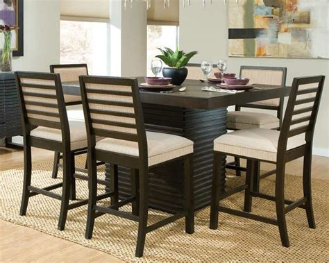 dining room counter height sets modern dining room sets to give trendy look in modern home