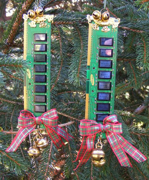 computer tree recycled computer memory tree ornaments