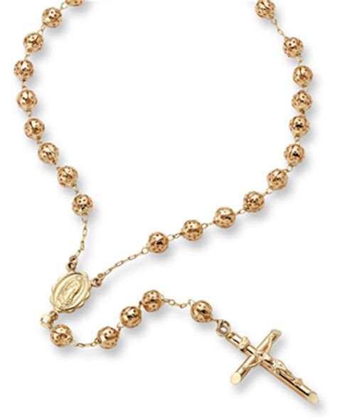 rosary gold bridal bouquet rosary applesofgold