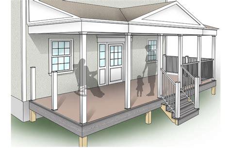 porch building plans porch design plans inteplast building products