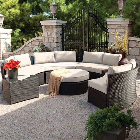 circular outdoor furniture 25 awesome modern brown all weather outdoor patio sectionals