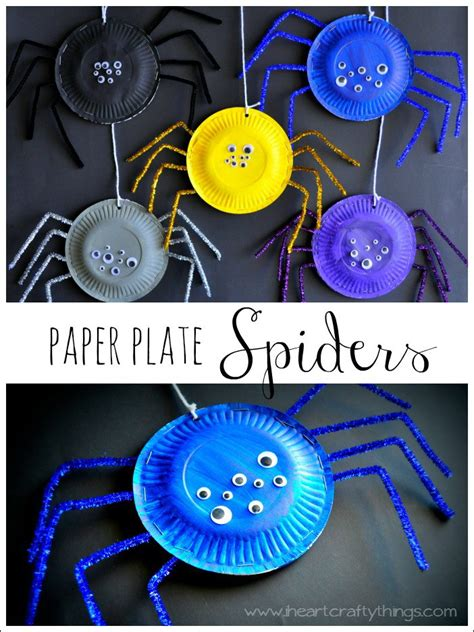 paper plate spider craft easy diy crafts that even can do it 2017
