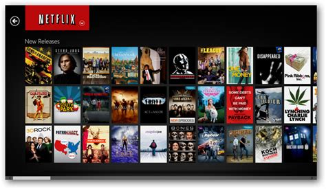 new releases right to windows 8 with the netflix app