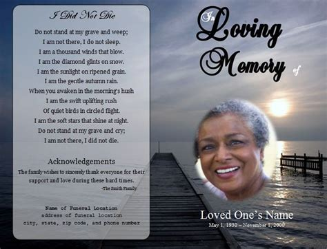 how to make a funeral memorial card 73 best images about printable funeral program templates