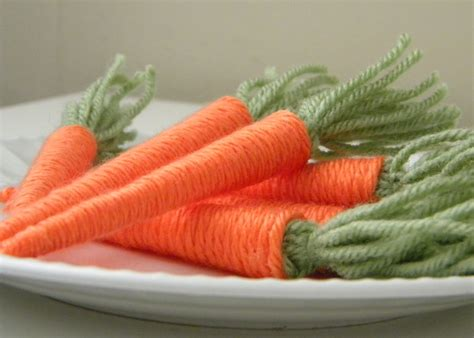 yarn crafts for make yarn baby carrots 187 dollar store crafts