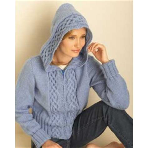 knitted hoodie pattern womens hoodies to knit free patterns grandmother s pattern book
