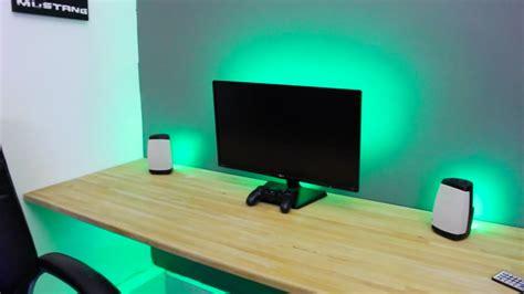 desk with light make any desk set up awesome led lights