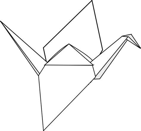 origami drawing origami crane clip at clker vector clip