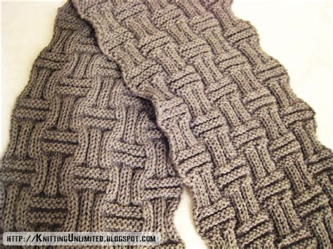 basket weave knit pattern scarf knitting with interesting basketweave texture