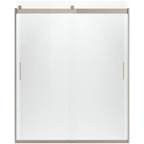 kohler sliding shower doors kohler levity 59 5 8 in x 74 in frameless sliding shower