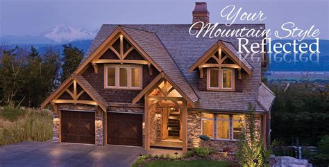 a frame style homes mountain style timber homes