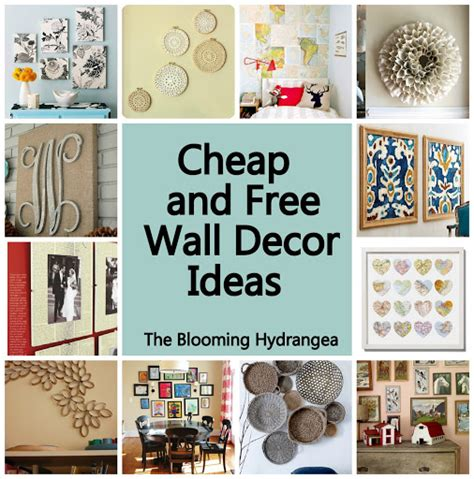 ideas for inexpensive cheap free wall decor ideas roundup