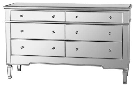mirrored bedroom dresser nicolette bedroom 6 drawer dresser mirrored finish