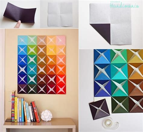 paper craft for wall decoration how to make origami paper craft wall decoration step by