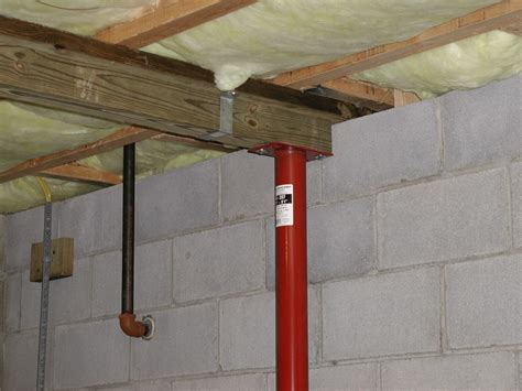 basement support posts plumbers box joist plumbers free engine image for user