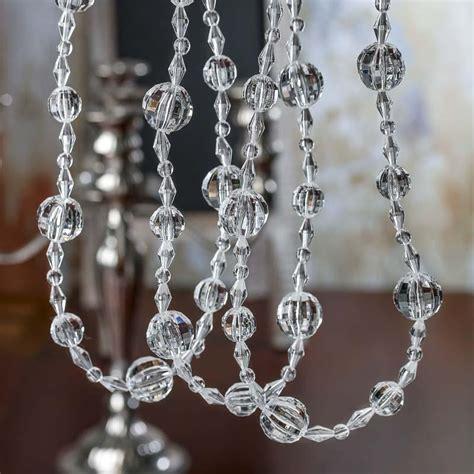 beaded garland acrylic garland pearl spools basic craft