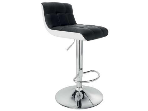 tabouret de bar wharf coloris noir et blanc vente de chaise de cuisine conforama