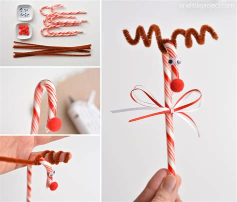 crafts with canes how to make reindeer