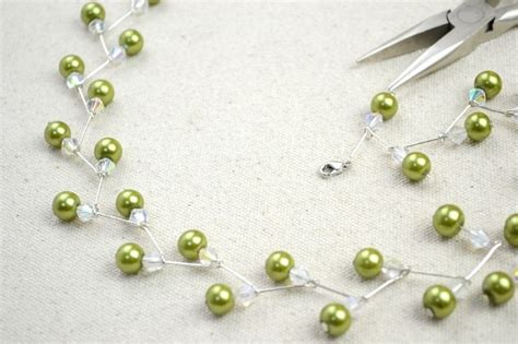 how to make a wire necklace with jewelry crafts ideas adorable pearl necklace earring set