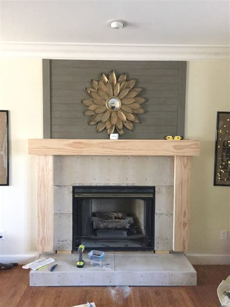 easy fireplace makeover diy fireplace makeover at home with the barkers