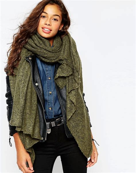 oversized knit scarf asos asos oversized knit scarf at asos