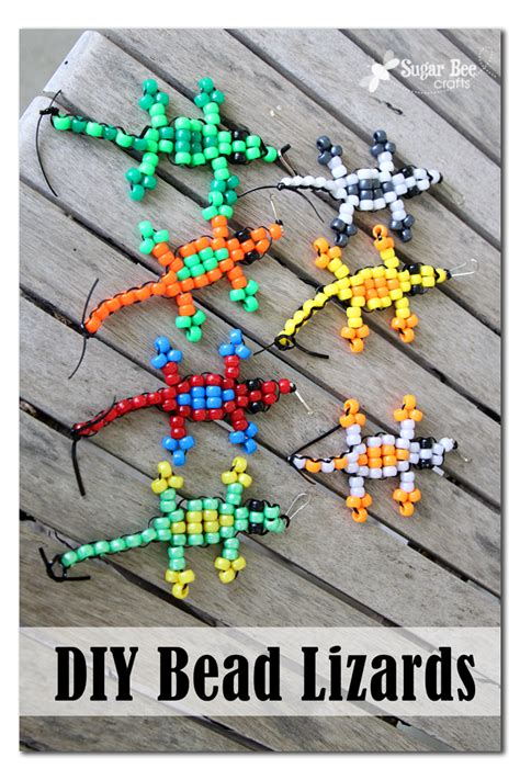 pony bead animals pony bead lizard tutorial sugar bee crafts