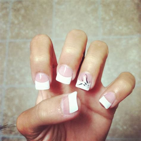 nail design tips home acrylic white tip nail designs home decoration live