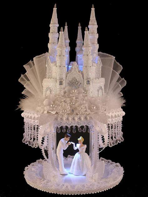 Rhinestones For Cakes Decorations by Lighted Cinderella Castle Swarovski Crystal Wedding Cake