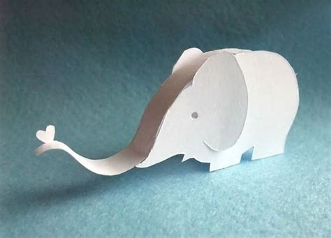 elephant paper craft paper elephant elephants