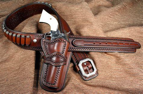 leather gun belt and holster brigade gunleather russellville western gun holsters and gunbelts for cowboy actioin shooting