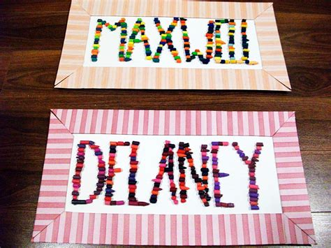 name crafts for crayon name craft 187 dollar store crafts