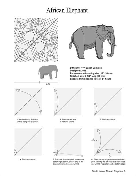 how to make a elephant origami origami project 1 elephant by shuki kato elephant hide