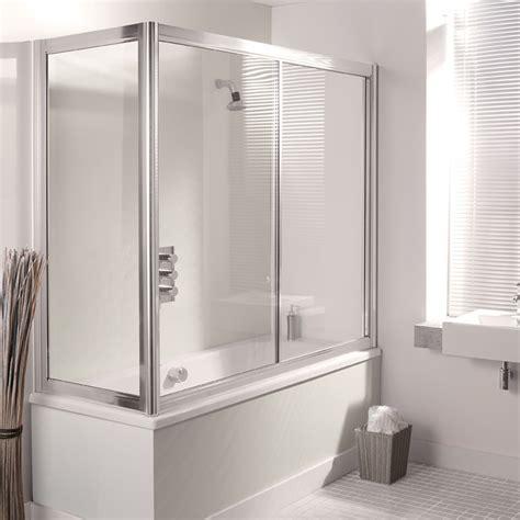 Sliding Shower Screen Over Bath simpsons supreme 1700mm overbath slider