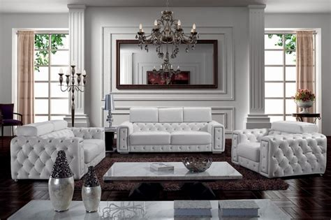 tufted living room furniture zonka tufted leather sofa set modern living room