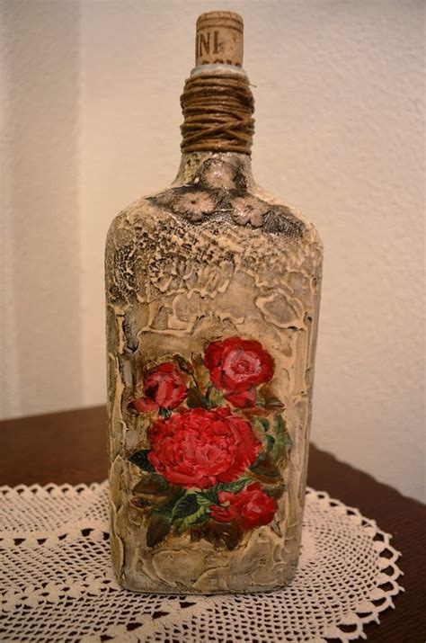 decoupage glass how to decoupage on glass bottle with pizzi goffre
