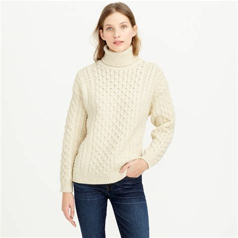 cable knit turtleneck aran crafts fisherman cable knit turtleneck sweater j