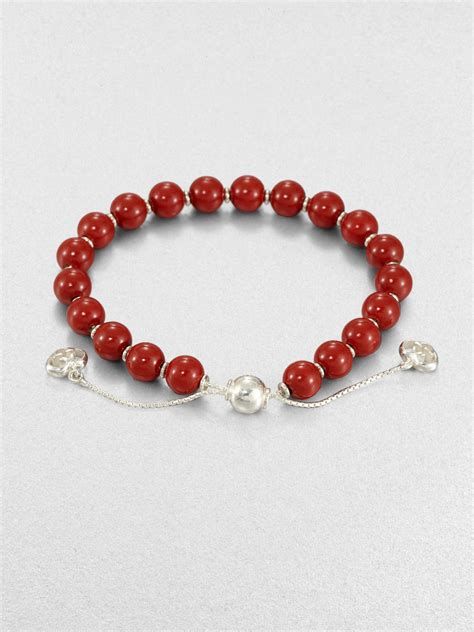 wood beaded bracelets gucci san valentino wood sterling silver beaded bracelet