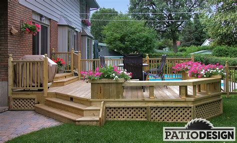 patio designes conception fabrication et installation de patio autour d