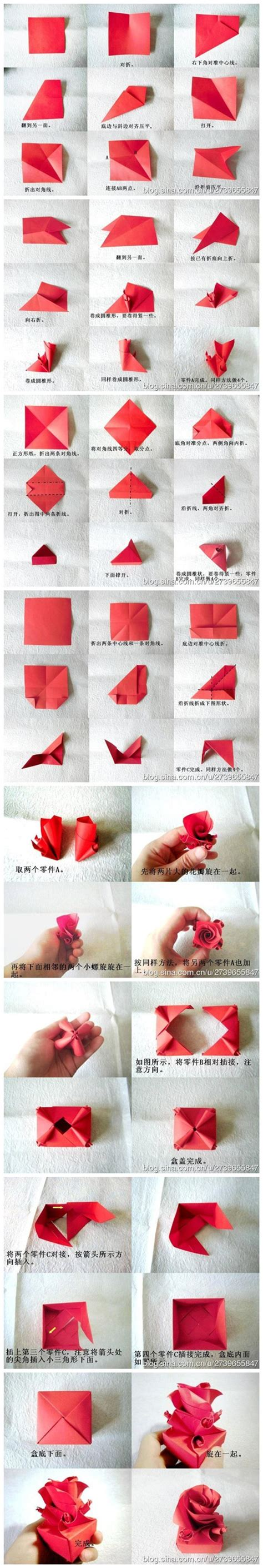 paper crafts tutorials how to fold origami paper craft box for