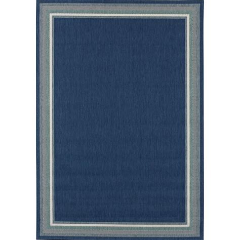 outdoor rug 8 x 10 hton bay border navy aqua 8 ft x 10 ft indoor outdoor