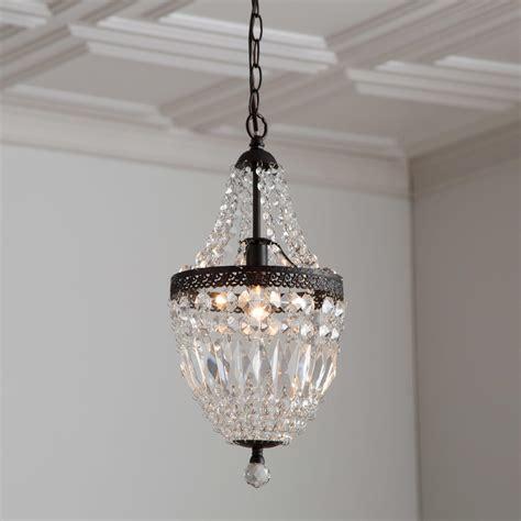 bronze mini chandelier with crystals light fixtures