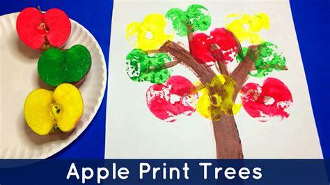 arts and crafts for preschool apple print trees preschool and kindergarten project
