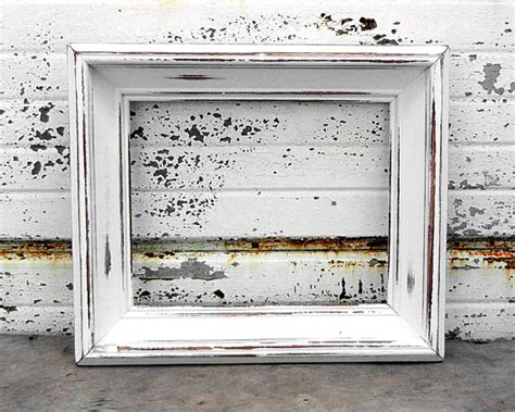 large shabby chic picture frame 8 x 10 large chunky bright white picture frame shabby chic